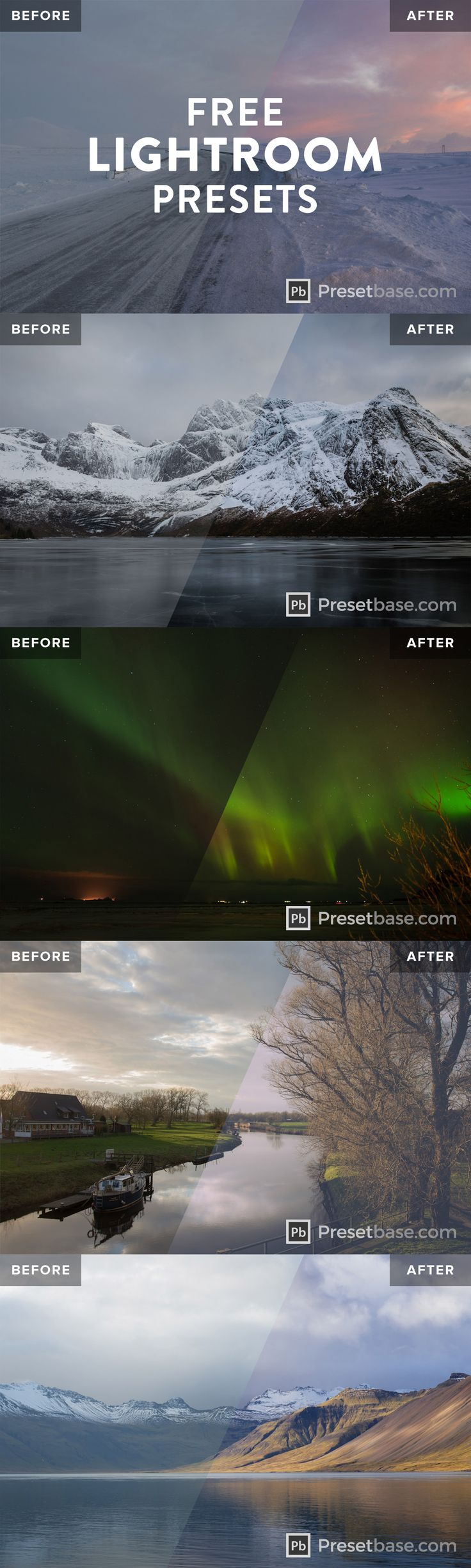Free Lightroom Preset by @presetbase / Professional Lightroom presets specially developed for landscape photography