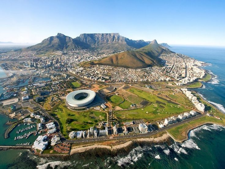 Cape Town South Africa - It even looks like you're at the tip of the world!  #travel #BirdsEye #goluggage