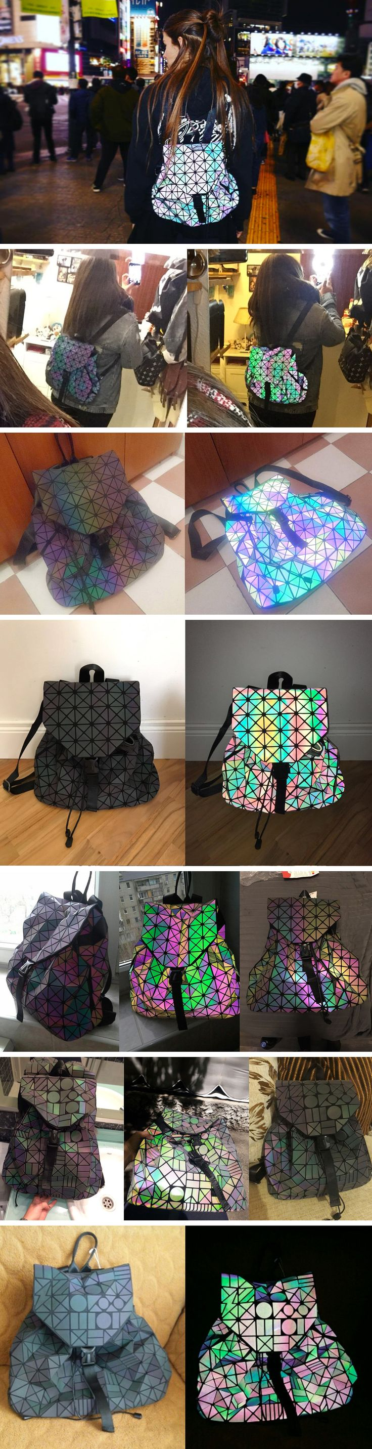 NEW 2017 TREND: STYLISH LUMINESKBACKPACK Created with a sophisticated geometric design, this unique backpackwill turn heads (there's nothing like it on the ma