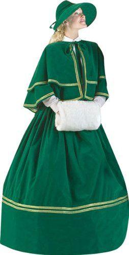 Women Christmas Carol Costume Dress