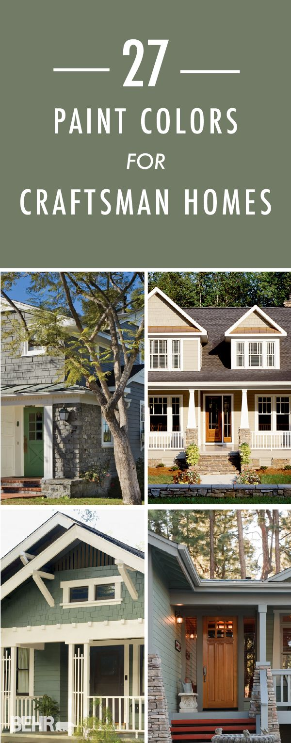 Craftsman style homes are notorious for their intricate detailing which pairs great with the right paint. Click through to find 27 handpicked BEHR color schemes to inspire your curb appeal.