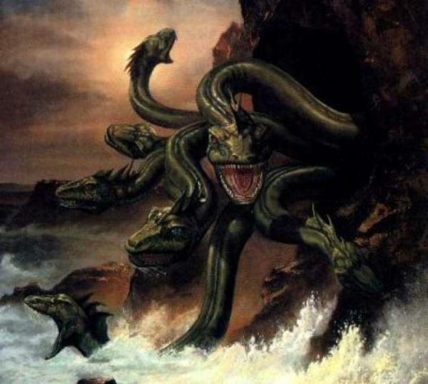 Scylla transformed into a monster