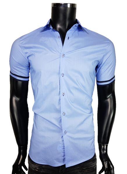 Koszula męska w kolorze błękitnym - - Koszule męskie - Awii, Odzież męska, Ubrania męskie, Dla mężczyzn, Sklep internetowy