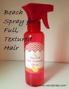 DIY Basic Sea Salt Hair Thickening Spray