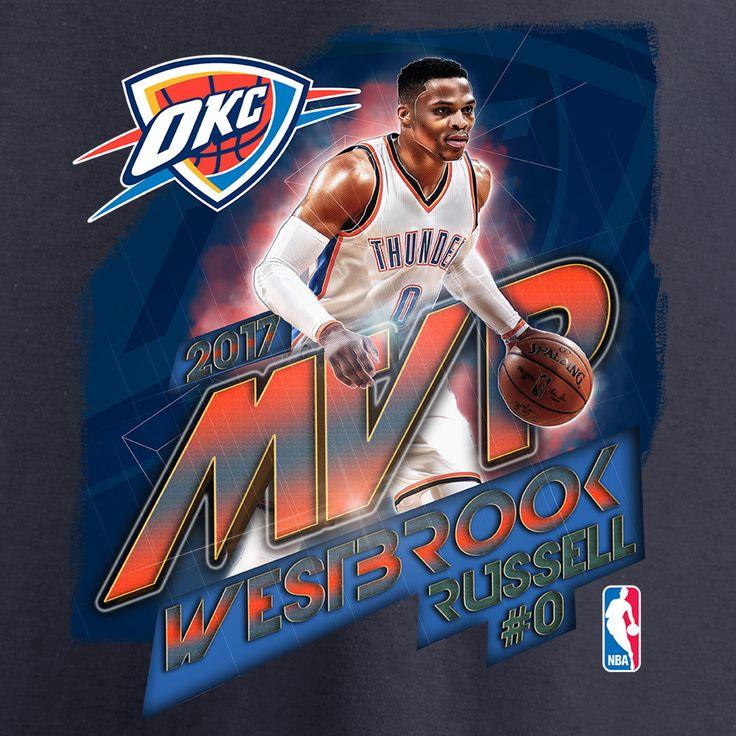 Fanatics Branded Russell Westbrook Oklahoma City Thunder Women's Navy 2017 NBA MVP V-Neck T-Shirt