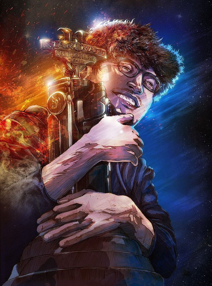 Final Byun WCS Portrait Art by Nicolas Chaussois #games #Starcraft #Starcraft2 #SC2 #gamingnews #blizzard