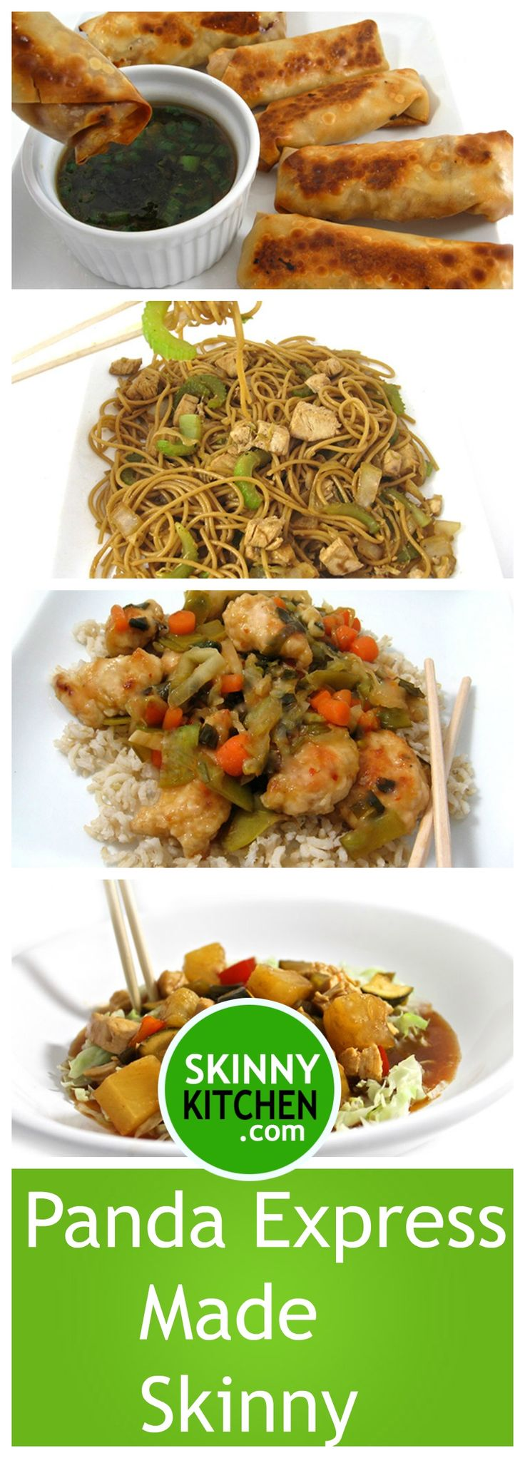 4 Panda Express Dishes Made Skinny. I love Panda Express! I'm sharing 4 of my copy-cat recipes. All are really yummy. Have fun! http://www.skinnykitchen.com/recipes/4-panda-express-dishes-made-skinny/