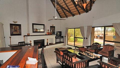 The TV lounge at Satara Rest Camp.