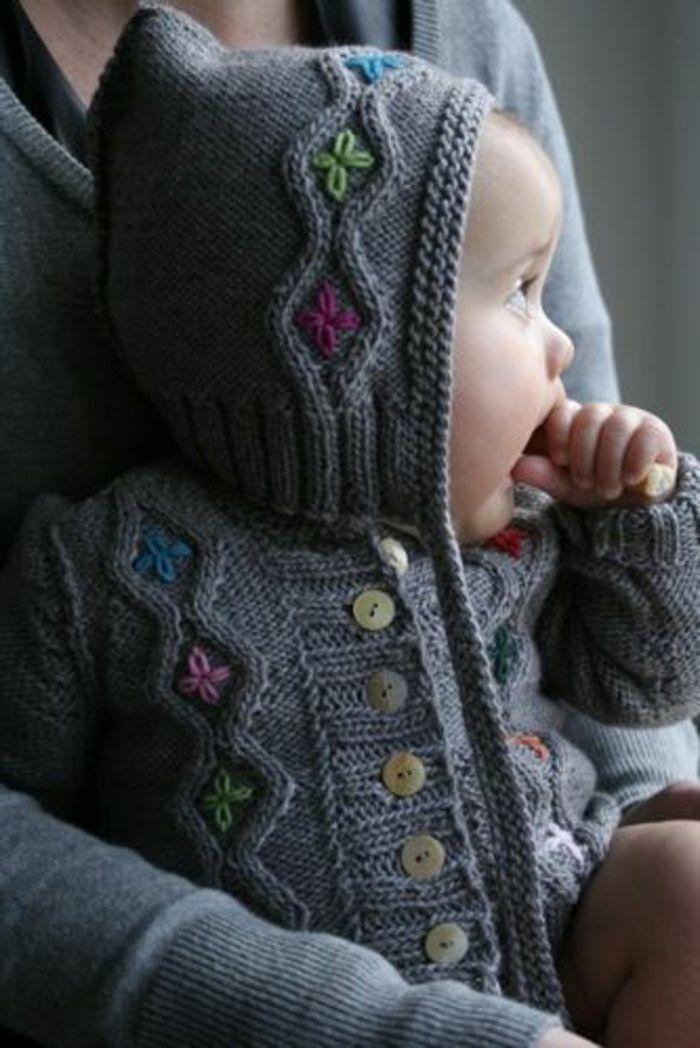 Baby Pullover stricken kleine hüte