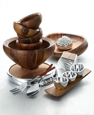 Nambe Wood & Metal Serveware Collection - - Macy's Bridal and Wedding Registry