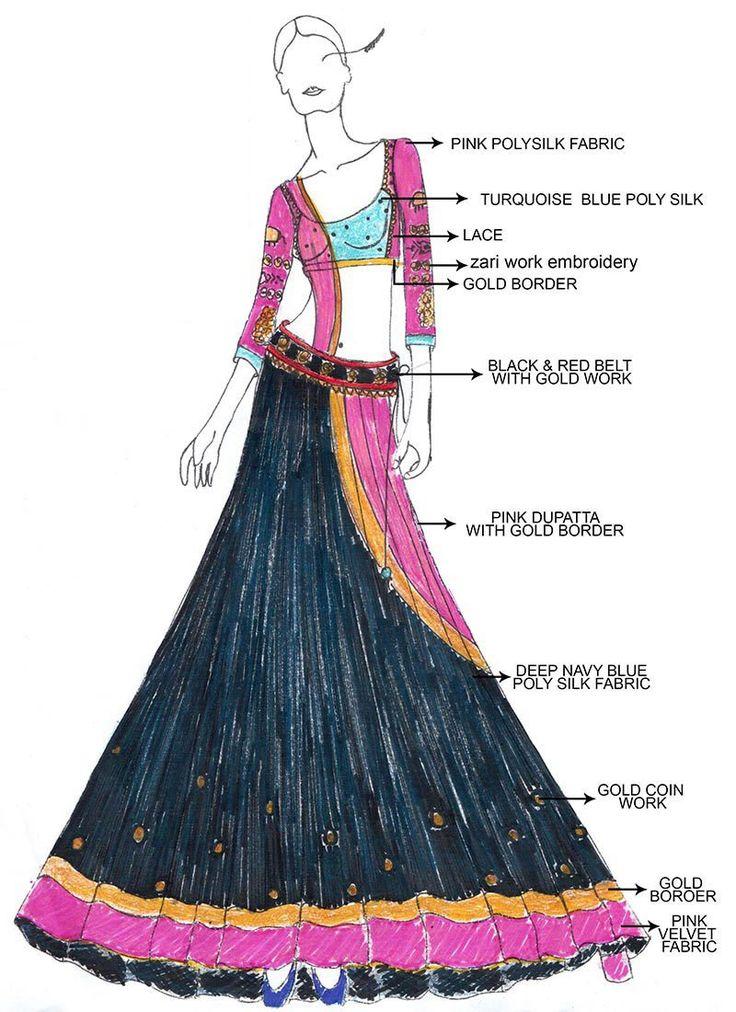 DIY Blue Ram Leela Lehenga