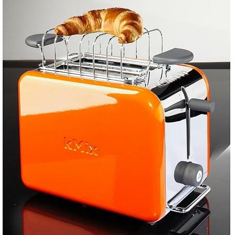 Kenwood kMix TTM021 Orange toaster, part of the new and chic kMix collection! Features include: Peek and view function, Variable browning control, Suregrip controls, High quality die cast aluminium. http://www.zocko.com/z/JGOwY