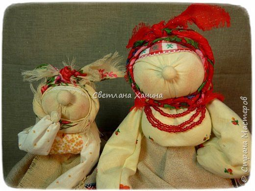Куклы Шитьё ХарАктерные бабуськи народная кукла Ткань Шпагат фото 1