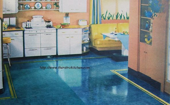 Linoleum flooring painted linoleum floors flooring for Tile linoleum bathroom
