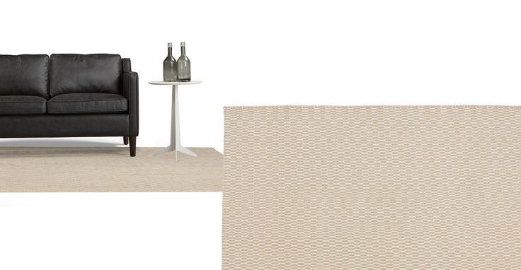 Alma, un tapis, 170 cm x 240 cm, beige et blanc  Isis and