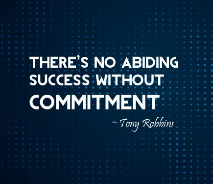 Commitment is strengthened when you put it on paper. So set a goal. Develop a strategy that you can pursue. What happens if you don't commit? Not much. And that's the problem.  www.TACfocus.com  |  www.TACresults.com