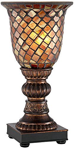 Mosaic Brown Glass Uplight Accent Lamp Regency Hill