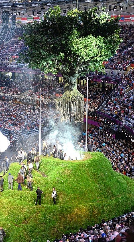 The tree that flew. London 2012 Olympic Games Opening Ceremony