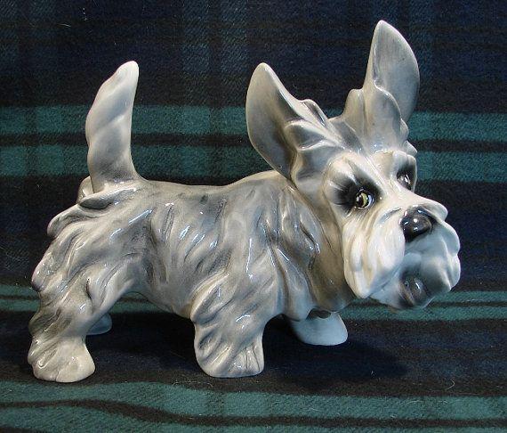 1950s Ceramic Poodles Vintage Kitchy Ceramic Poodle
