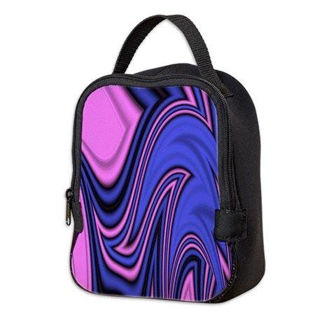 Neoprene Lunch Bag Insulating Neoprene keeps food cool longer Water Resistant Nylon top handle, zipper closure 8″ x 9.5″ x 4.5″ Source: Blue and Pink Splash Art Neoprene Lunch Bag…