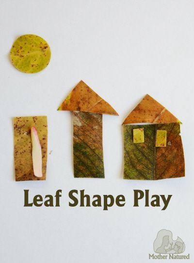 Leaf Shape Play for Kids