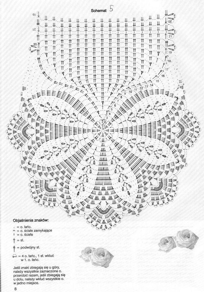 Cute oval crochet doily