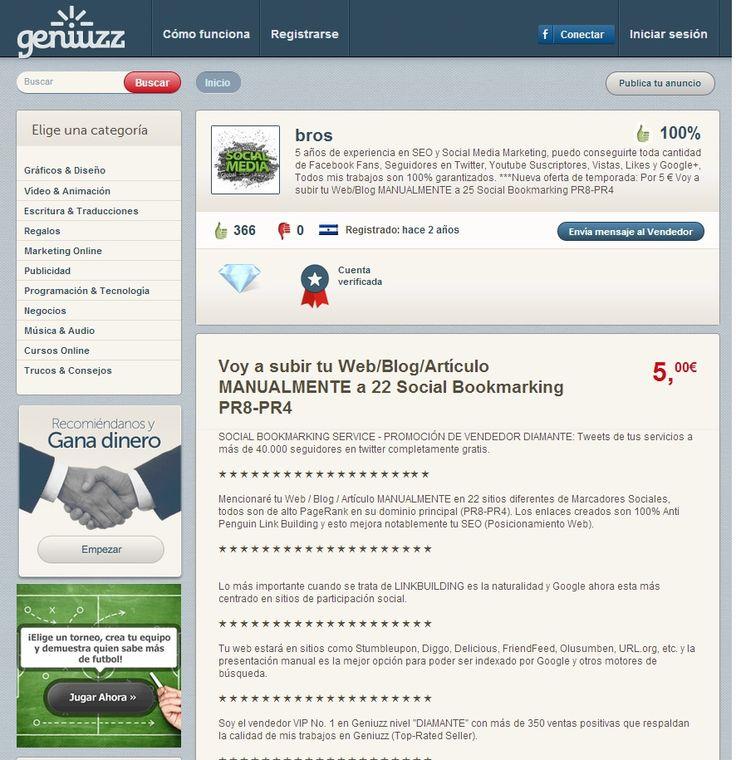 Bros: 5 años de experiencia en SEO y Social Media Marketing. http://www.geniuzz.com/bros