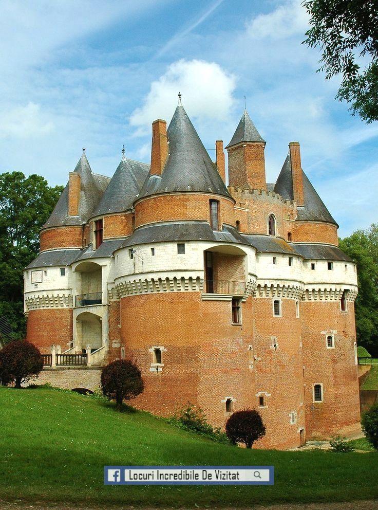 Castelul Rambures - Somme, Picardia, Franța