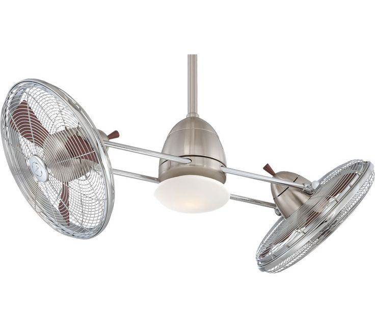 FREE DESK FAN INCLUDED   Minka-Aire Gyro Fan F602-BN-CH, at Del Mar Fans & Lighting, with product video