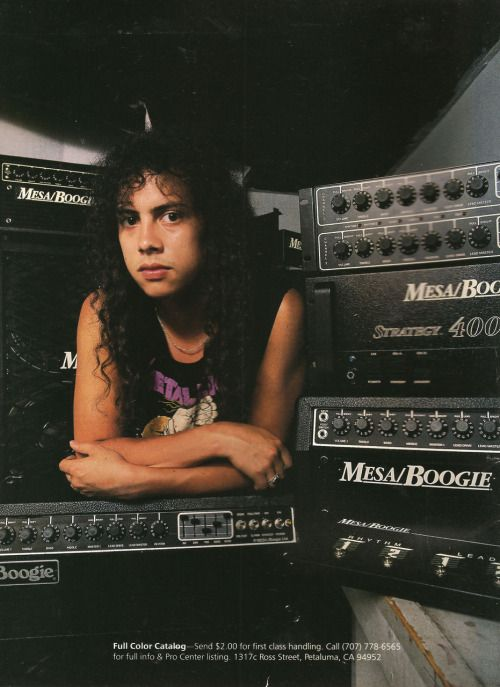 Kirk Hammett - Mesa/Boogie ad.