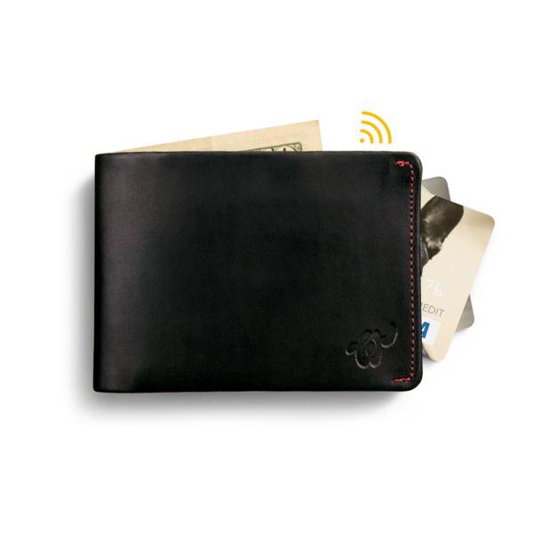 Eco Woolet Black - slim, smart wallet