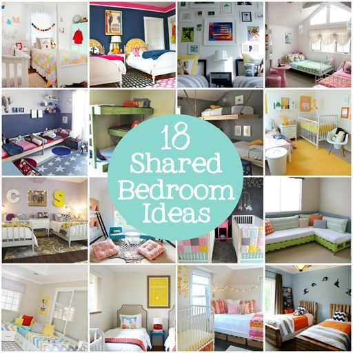 18 shared bedroom ideas for kids via lilblueboo.com    Don't get any funny ideas @Ashley Walters Silveira