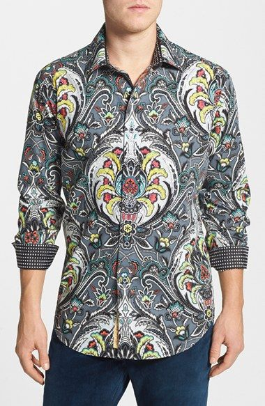 Robert Graham 'Tiki Hut' Classic Fit Sport Shirt