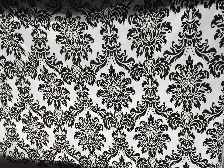 LOTTO 5M TESSUTO TAFFETA DAMASCATO in velluto nero per TENDE CUSCINI COPRILETTO in Casa, arredamento e bricolage, Decorazione della casa, Tessuti per arredamento | eBay