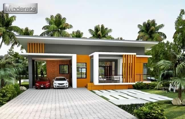 Medium Sized Modern Single Storey House House And Decors In 2020 Modern Bungalow House Single Storey House Plans One Storey House