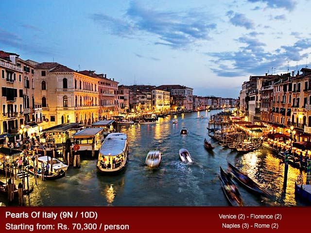 Italy is a scenic vacation spot for travelers across the world, for its gothic cityscape and quaint countryside's. Couples can enjoy memorable #gondolacruise through Venice waterways or road trips through Tuscany and #Rome. Heritage travelers can explore the #historic cities and religious sites of Pisa, Pompeii, Sorrento and Vatican City. Discover the vast beauty and History of Italy through Nivalink's favorite itinerary (www.nivalink.com/holiday/itl-08) that leaves you musing in awe.