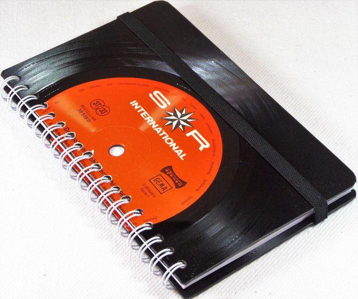 DIN A6 - Kalender 2017 Taschenkalender aus Schallplatte - ein Designerstück von Aurum bei DaWanda