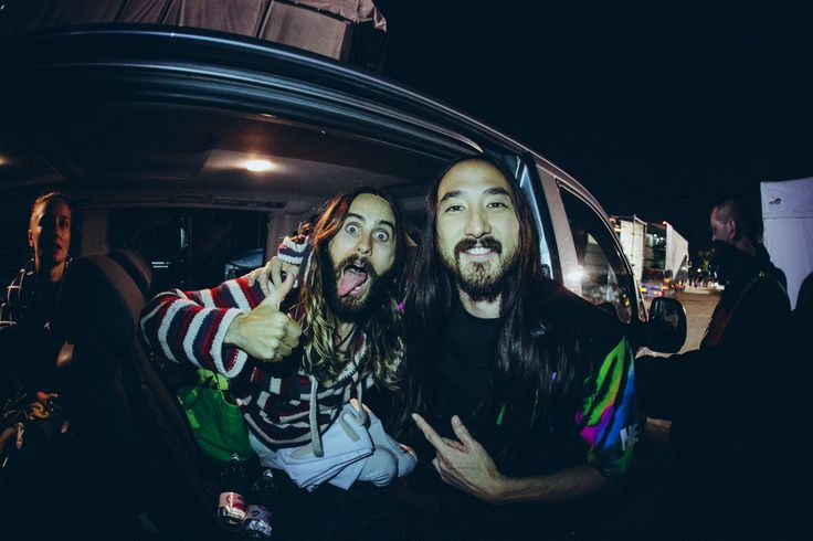 Steve Aoki with Jared Leto --Photoset: The Great Adventures of Steve Aoki — Cuepoint — Medium