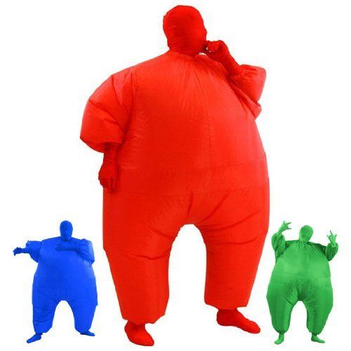 AirSuits Inflatable Fat Chub Suit Second Skin Fancy Dress Party Costume - RED