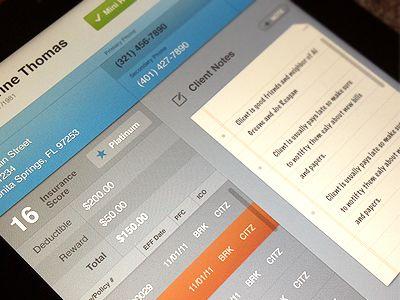 Dribbble - Insurance iPad App by Jeremiah Shaw