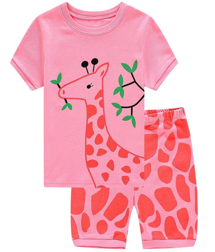 Family Feeling Deer Baby Girls' Sleepwear Infant Pajamas Set Pjs 18-24 Months