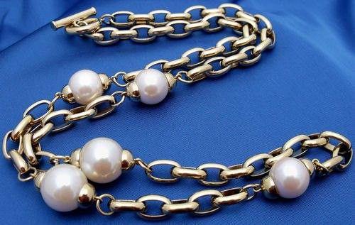 Винтажное колье. Металл, искусственный жемчуг. Givenchy, 80-е гг. #vintage #jewellery #jewelry #trendy #style #chic #women #gift
