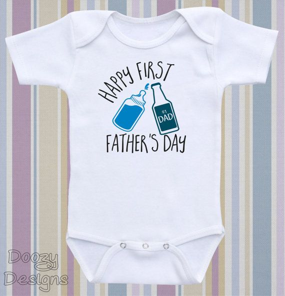 Cute First Fathers Day Gifts Part - 35: First Fatheru0027s Day Onesie ® Fatheru0027s Day Shirt Dad Onesie ® Custom Fatheru0027s  Day Gift Newborn Baby Boy Girl / Happy First Fatheru0027s Day