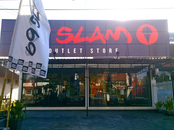 69SLAM Factory Outlet on Jalan Sunset Road in Badung, Bali (Indonesia).  www.69slam.com