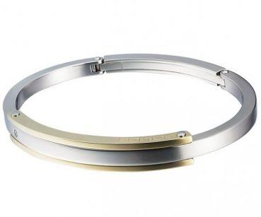 Top Marken Uhren & Life Trends online kaufen | MyRich.de-POLICE Herren Silber Gold Edelstahl Armband Clipverschluss PJ.20545BSG/07-L