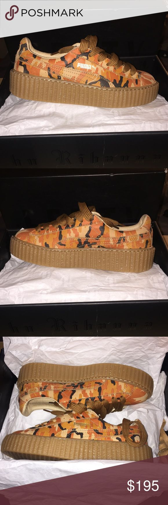 Rihanna Fenty Puma Camouflage Creeper Exclusive Brand New Creepers no longer available in stores Women Sz. 7 Puma Shoes Athletic Shoes
