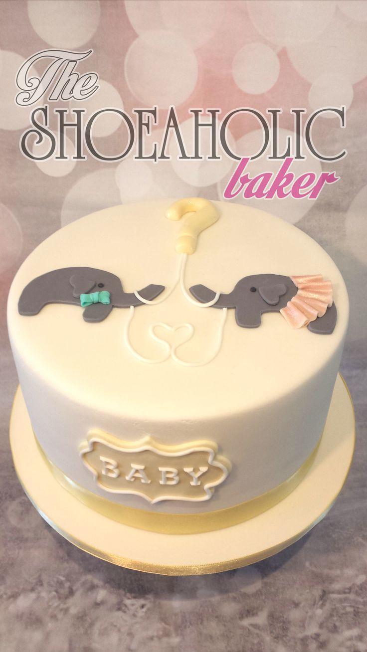 8 inch gluten free round gender reveal cake
