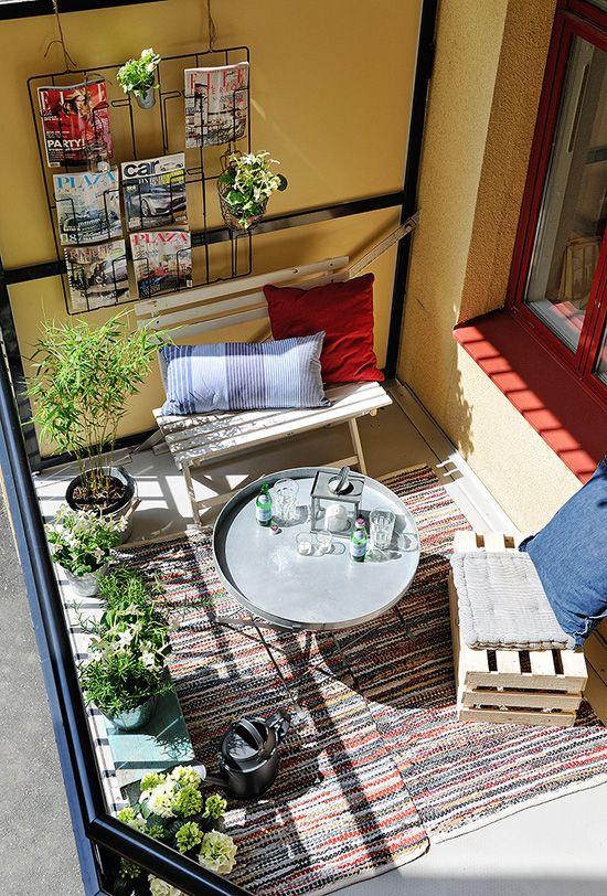25 best ideas about klein balkon op pinterest klein balkon tuin klein balkon decor en klein - Tapis exterieur terras ikea ...