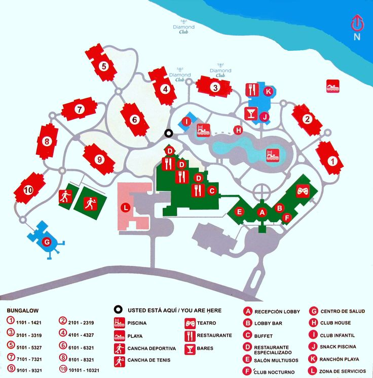 Map Layout Memories Flamenco Beach Resort