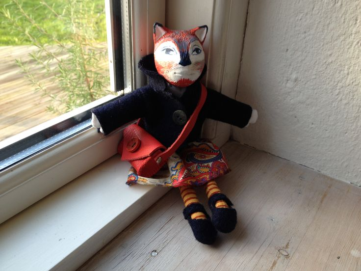 handmade fox girl doll